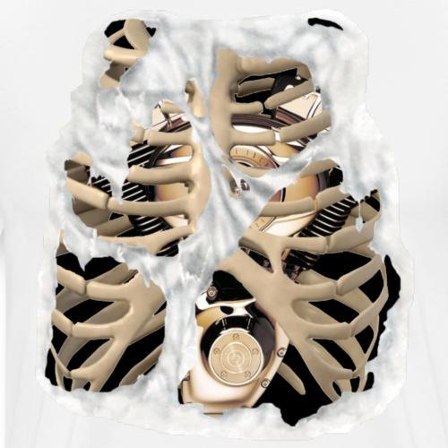 V-Twin skeleton blanco