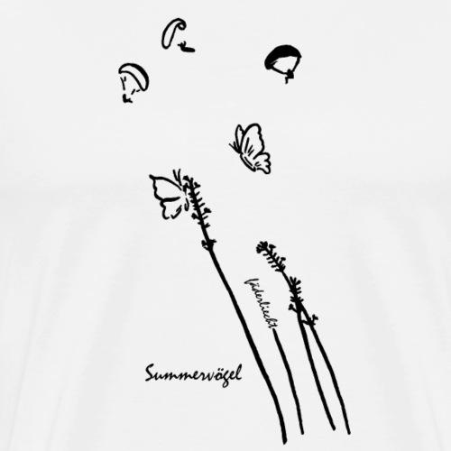 Summervögel (Schmetterlinge & Gleitschirmfliege) - Männer Premium T-Shirt