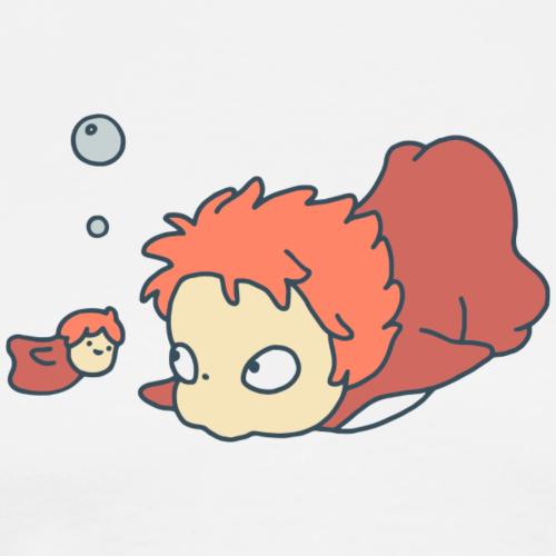 Ponyo - Camiseta premium hombre