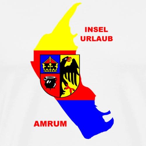 Amrum Nordsee Insel Urlaub - Männer Premium T-Shirt