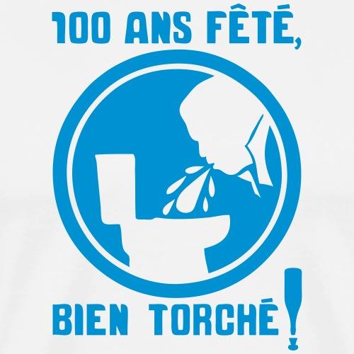 100 ans fete torche obligatoire panneau - T-shirt Premium Homme