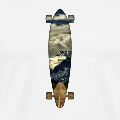 Longboard. Ride the World. - Männer Premium T-Shirt