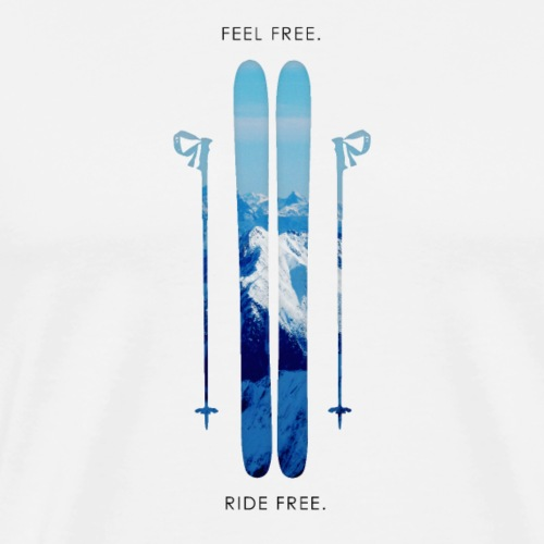 Freeski - Black - Männer Premium T-Shirt