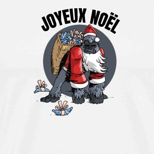Gorille de Noël - T-shirt Premium Homme