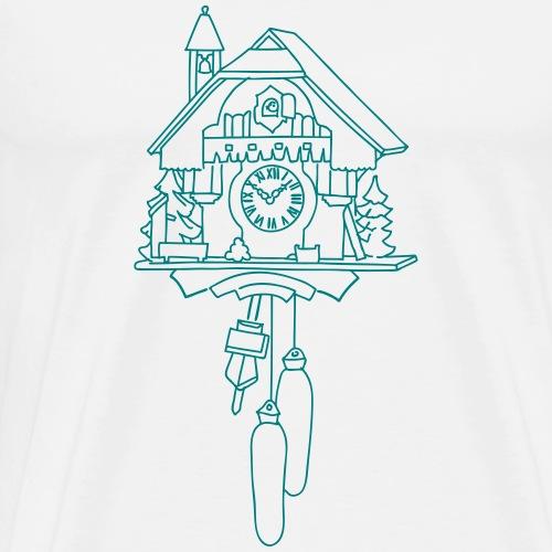 Kuckucksuhr aus dem Schwarzwald - Männer Premium T-Shirt