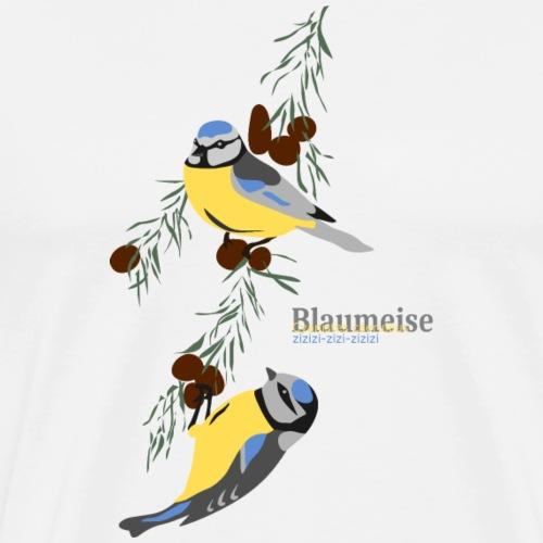 Blaumeise - Männer Premium T-Shirt