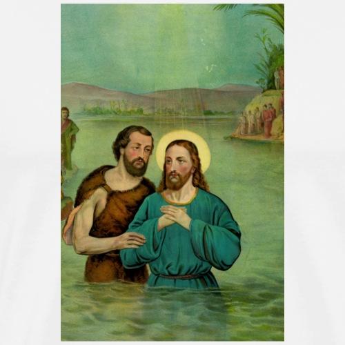 Jesu Taufe in Farbe - Männer Premium T-Shirt