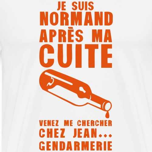 normand cuite jean gendarmerie alcool - T-shirt Premium Homme
