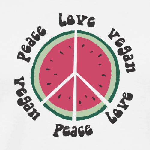 vegan peace love watermelon - Männer Premium T-Shirt