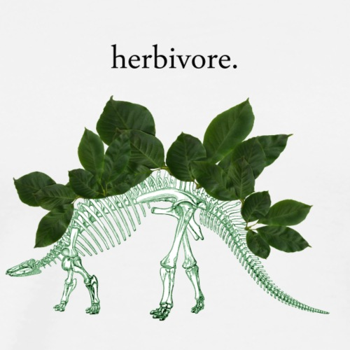 Herbivore Bones Green - Men's Premium T-Shirt