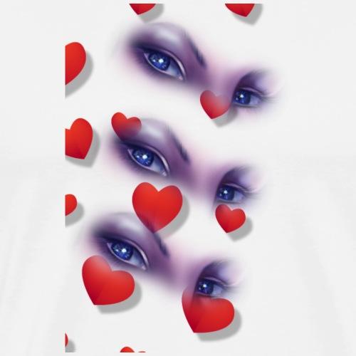 yeux + coeur - T-shirt Premium Homme