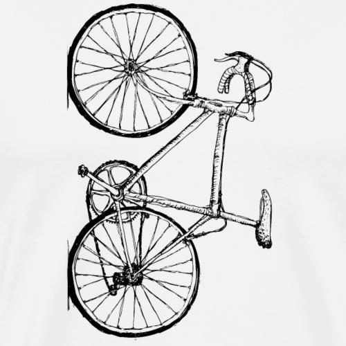 Nur Fahrrad senkrecht - Männer Premium T-Shirt