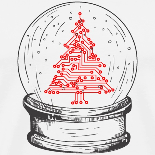 Crystal snow globe | Geeky christmas tree - Men's Premium T-Shirt