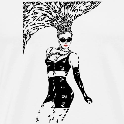 Sparkling woman with edge - Mannen Premium T-shirt