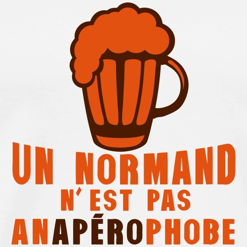 normand pas anaperophobe peur apero - T-shirt Premium Homme