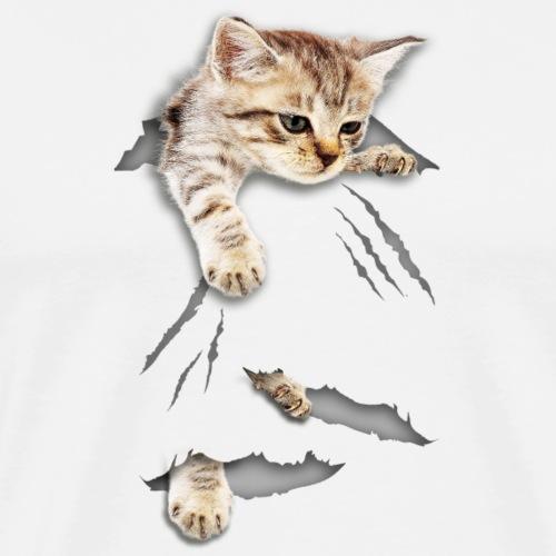 cat tear - Männer Premium T-Shirt