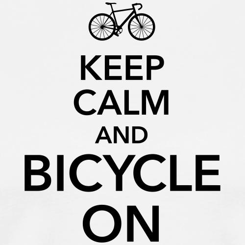 keep calm and bicycle on Fahrrad Drahtesel Sattel - Men's Premium T-Shirt