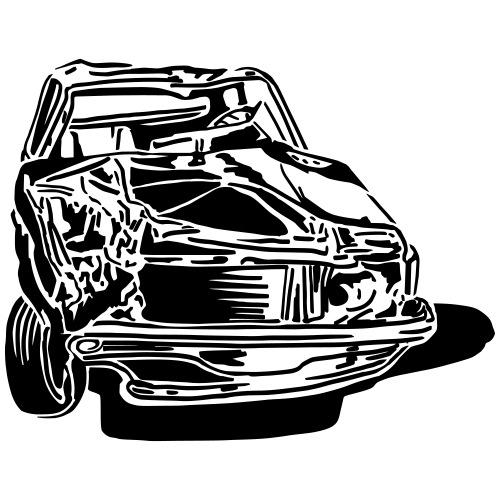 car crash - T-shirt Premium Homme