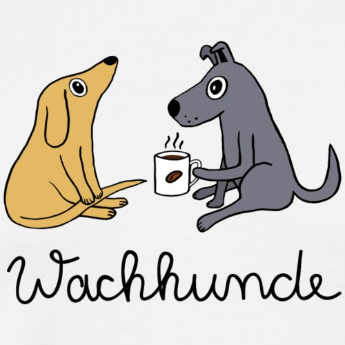 Wachhunde - Nur wach mit Kaffee - Männer Premium T-Shirt