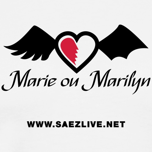 Marie ou Marilyn (version dark) - T-shirt Premium Homme