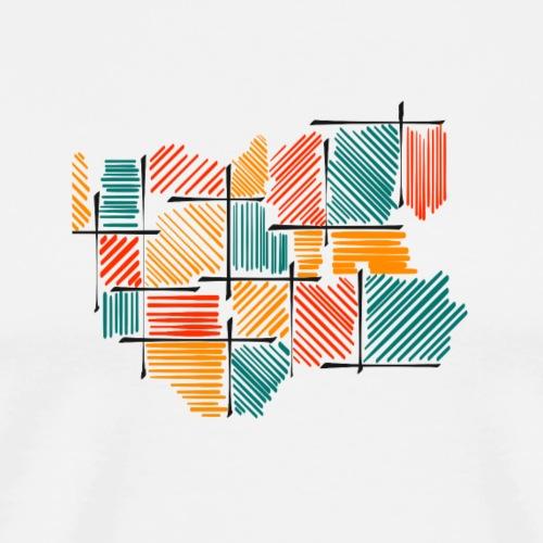 Lines GRO - Maglietta Premium da uomo