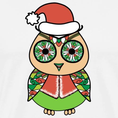Christmas owl - Men's Premium T-Shirt