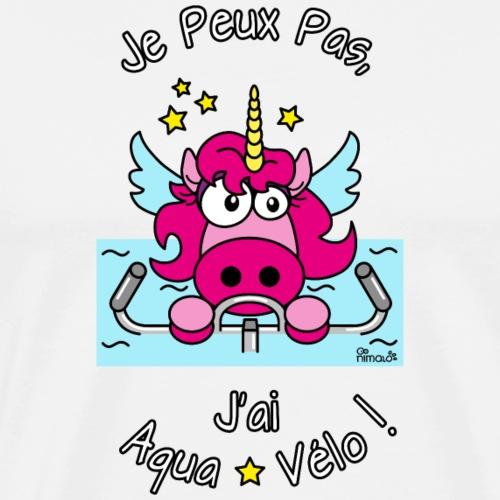 Licorne Je peux pas, J'ai Aqua-Vélo WT - T-shirt Premium Homme