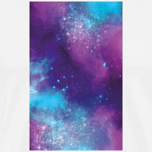 Hülle Universum pink lila türkis - Männer Premium T-Shirt