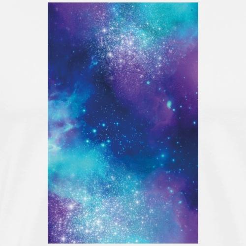 Hülle Universum blau lila türkis - Männer Premium T-Shirt