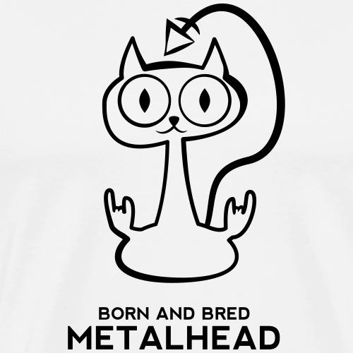Heay metal cat - Men's Premium T-Shirt