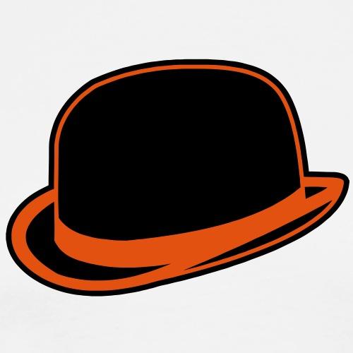Horrorshow Orange Bowler Hat Melone Hut Clown Alex - Männer Premium T-Shirt