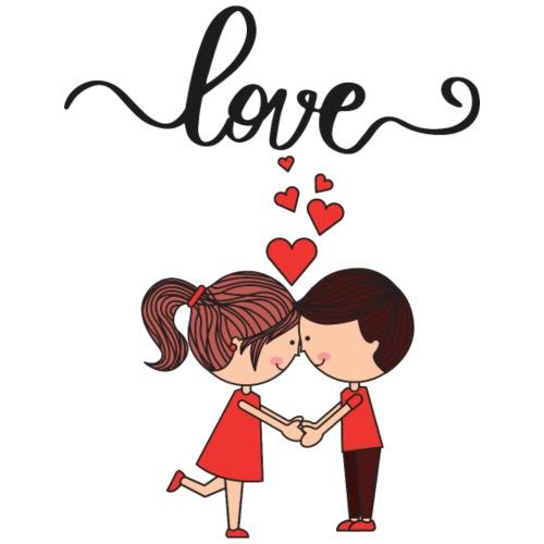 Love heart amour - T-shirt Premium Homme