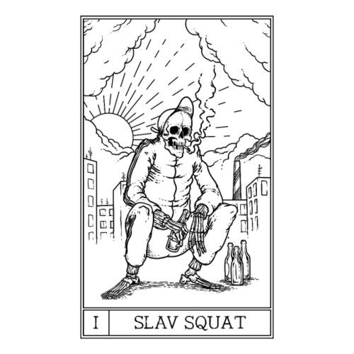 SLAV SQUAT - Koszulka męska Premium