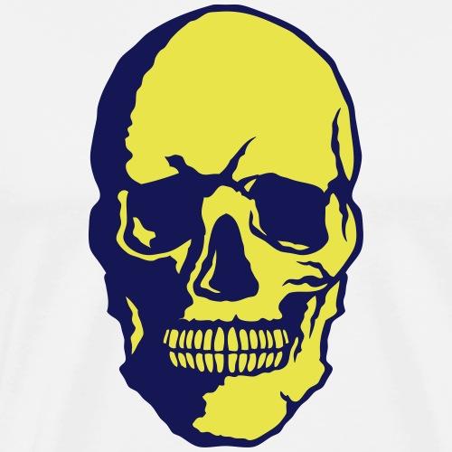 tete de mort crane halloween fantaisie 2 - T-shirt Premium Homme