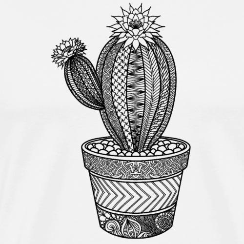 Cactus zentangle - Men's Premium T-Shirt