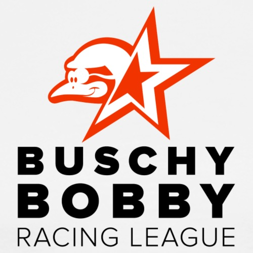 Buschy Bobby Racing League on white - Men's Premium T-Shirt