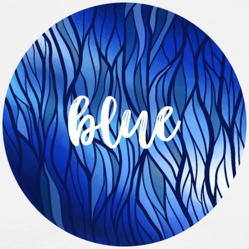 Blue Circle - Wasser Reflektion - Männer Premium T-Shirt