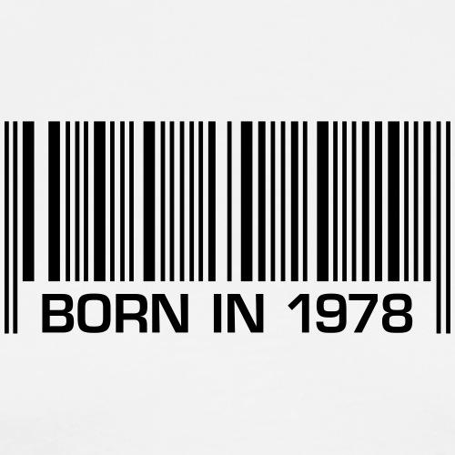 born in 1978 40. Geburtstag Barcode vierzig Jahre - Men's Premium T-Shirt