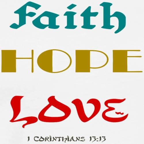 Faith Hope Love Designs - Men's Premium T-Shirt