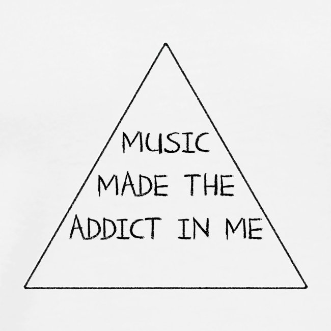 Music Made the Addict in Me Hoody Women