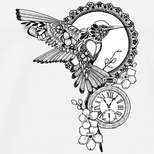 Kolibri-Uhr - Männer Premium T-Shirt