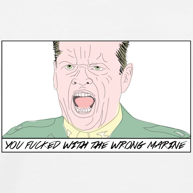 You Fucked With The Wrong Marine Hoody Women