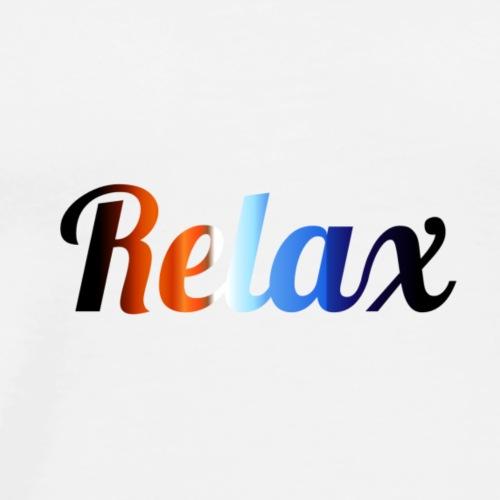 Relax logo - Herre premium T-shirt