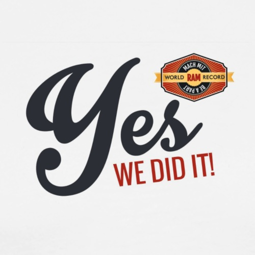 YES-we did it_black - Männer Premium T-Shirt