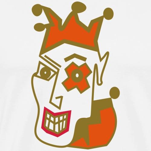 Crazy Jester by Brian Benson Men's Women's Premium - Men's Premium T-Shirt