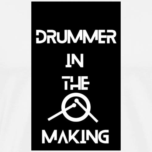 Drummer in the making black - Herre premium T-shirt