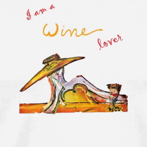 I AM A WINE LOVER 03 - Mannen Premium T-shirt