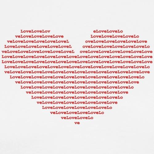 Isle of red Ascii Heart - Men's Premium T-Shirt