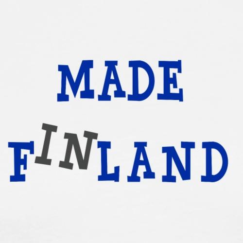 Made in Finland - Miesten premium t-paita