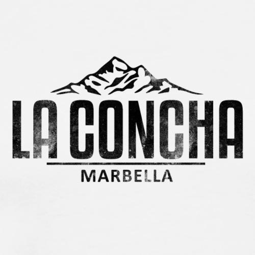 La Concha Faded Black Vintage Logo - Men's Premium T-Shirt